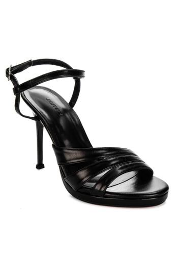 Janylin black Ankle Strap Heeled Sandals B50C7SH5A93206GS_1