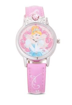 Disney Princess Girls Pink Leather Strap Watch TG-3K2376U-PS-004PK