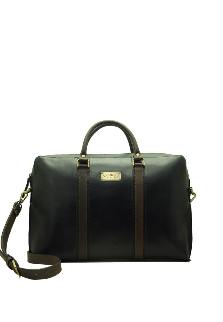 Lucas, Genuine Leather Nero Black Briefcase