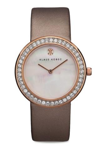 Penny zalora taiwan 時尚購物網鞋子雙指針鑲鑽手錶, 錶類, 淑女錶
