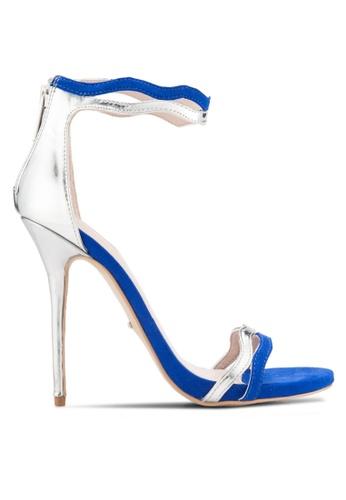 Carvela KG 藍色 多帶扇貝飾露趾繞踝細高跟鞋 CA459SH72HZBMY_1