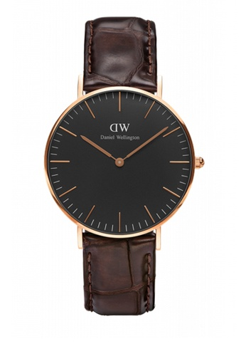 Daniel Wellington brown Classic Black York Watch 36mm DA376AC75NBSMY_1