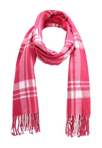 Buy Miss Selfridge Pink Check Scarf Zalora Hk