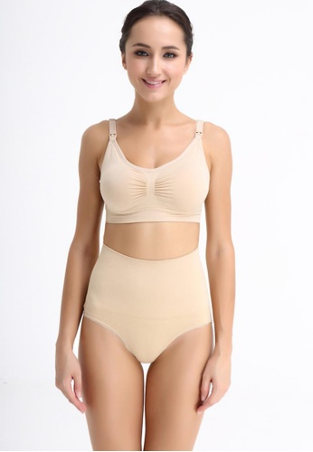 Bove by Spring Maternity 米褐色 Seamless Postpartum Shaper Panty 67877USF6825A0GS_1