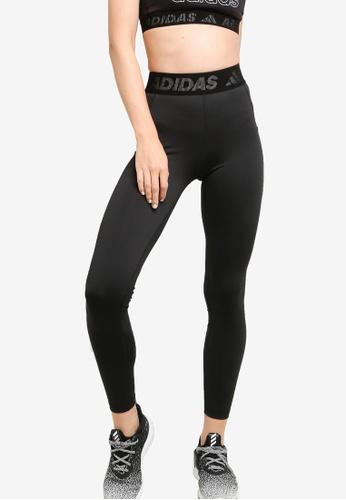 ADIDAS 黑色 techfit long branded elastic tight F29BAAA4A786BFGS_1