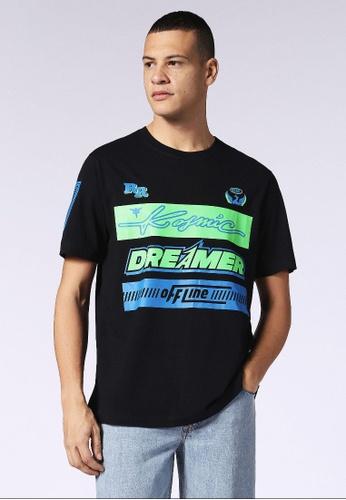 Diesel black T-Just-Sd Regular Fit T-Shirt DE601AAF4D4CB8GS_1