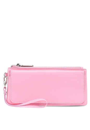 nose pink Plain Long Wallet BFF91AC4BA4768GS_1