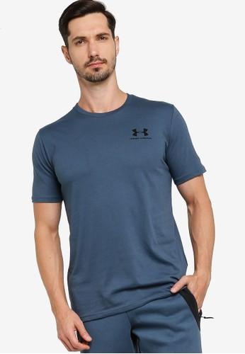 Under Armour blue Sportstyle Left Chest Short Sleeve Tee 7F3ECAA7076F1DGS_1