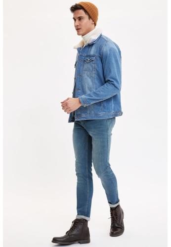 DeFacto 綠色 Martin Super Skinny Jeans 34D91AAE634516GS_1