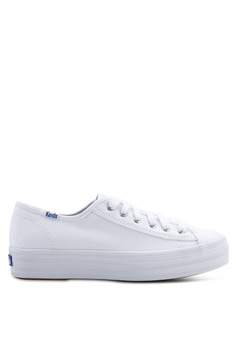 d3626a38e6 Keds white Triple Kick Canvas Sneakers 8FA19SH9C921A0GS 1