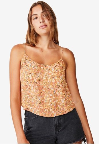 Cotton On orange Astrid Cropped Scoop Neck Top 1D257AAE4BF3C2GS_1