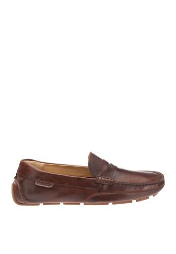 Sebago brown Kedge Penny Driving Shoes SE328SH14OWFPH_1