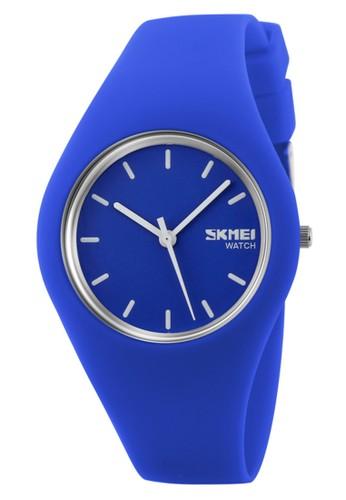 Digitec blue Skmei - Jam Tangan Wanita - Blue- Rubber Strap - 9068-D 9DDE7AC98BAB34GS_1