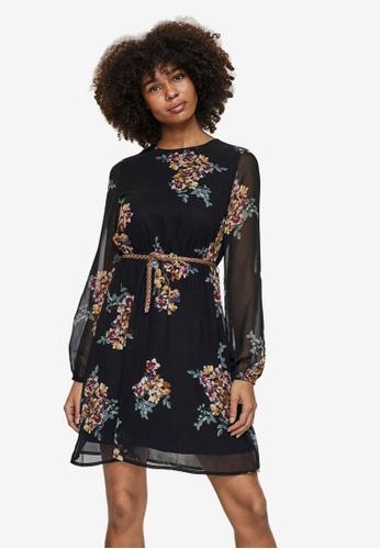 Vero Moda black Newallie Belt Short Dress BBA00AA7F3EF78GS_1