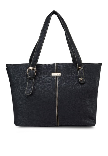 Unisa black Unisa Vintage Contrast Stitching Ladies Tote Bag UN821AC40DSTMY_1