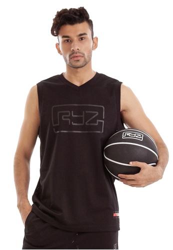 RYZ black RYZ Basketball Sleeveless Black Jersey. F899AAAC63B49EGS_1