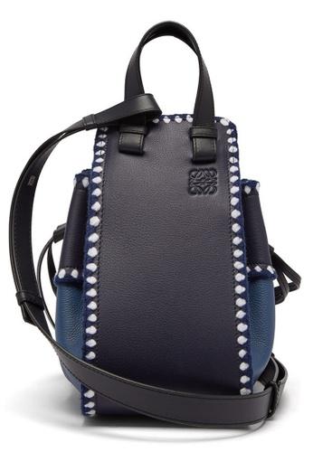LOEWE blue Loewe Small Hammock Crossbody Bag in Midnight Blue DEEDBACC812FE7GS_1