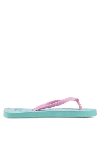 OVS 粉紅色 Rubber Flip Flops With Flamingo Sole 06DA5SH1C67803GS_1