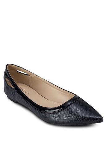 Dawzalora taiwan 時尚購物網n 尖頭鏤空平底鞋, 女鞋, 芭蕾平底鞋