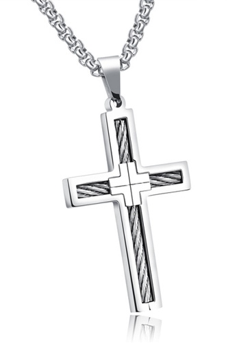 Trendyshop silver Cross Pendant Necklace 928B7AC99DA205GS_1