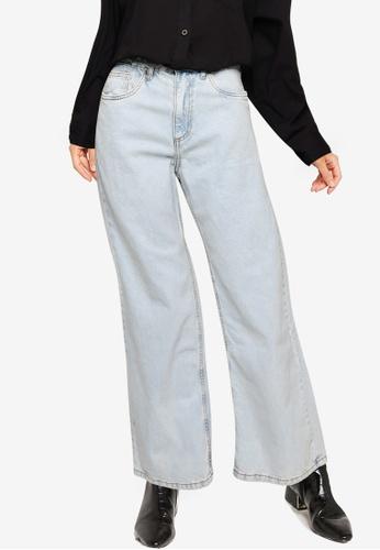Cotton On blue Long Wide Leg Jeans F2FBBAA750F6B7GS_1