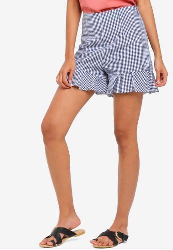 ZALORA BASICS multi Basic Ruffles Shorts A163EAACC07AC9GS_1