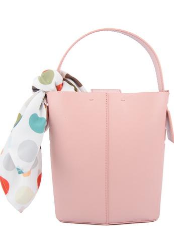 RO Bags pink RO Terranova Felucca Mini Top Handle Bucket Bag in Peach/Pink Sunset 625B6ACAC0E666GS_1