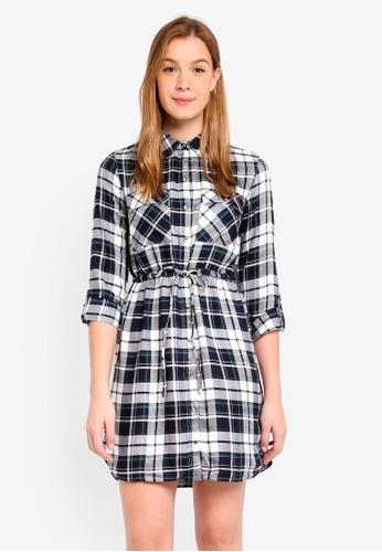 Dorothy Perkins black Green Check Shirt Dress 4F82BAA974182EGS_1