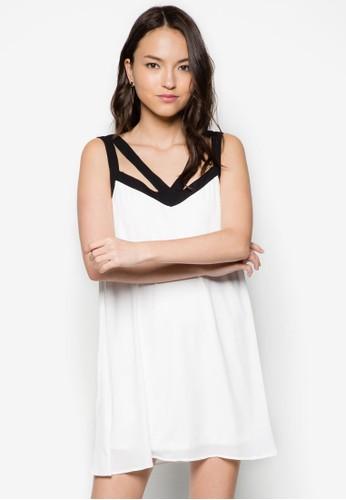 鏤空寬版連zalora開箱身裙, 服飾, 洋裝