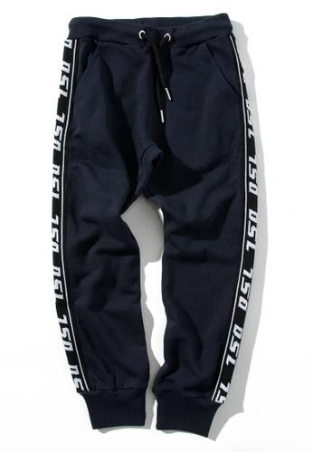 Diesel navy Cotton Pants 0A8F4KA4BFFC2AGS_1