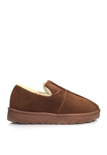 Twenty Eight Shoes 褐色 超暖柔軟毛絨冬鞋 VC709 78F06SH6E69F7CGS_1