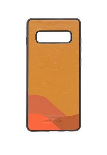 POROLUXE brown PHONE CASE FOR SAMSUNG S10+ D5B7CACEC90C6DGS_1