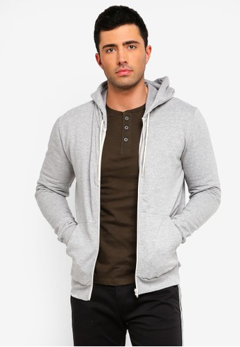 Brave Soul multi and grey Zip Through Hoodie E1CAAAA9E538F9GS_1