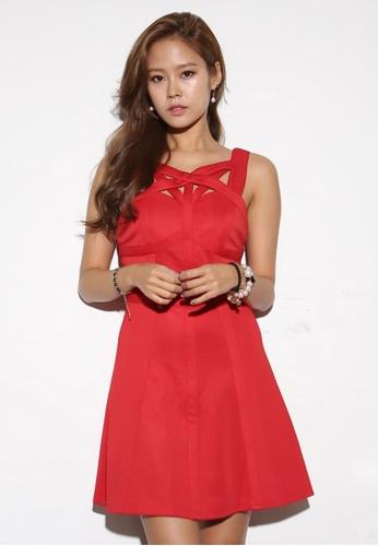 Shopsfashion red Florence Flare Dress SH656AA58KVDSG_1