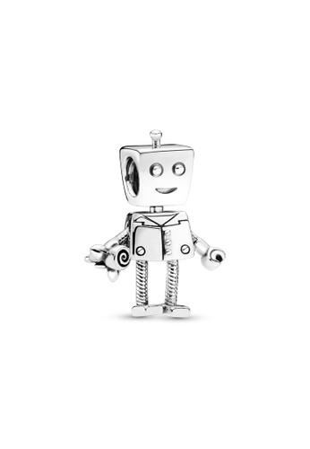 PANDORA silver Pandora Rob Bot Charm 0AEFAAC8700314GS_1