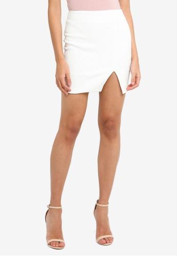 Bardot white Croc Split Skirt F850CAA818B081GS_1