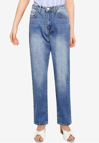 MISSGUIDED blue Mid Wash Wrath Jeans E47DFAA6984E4DGS_1