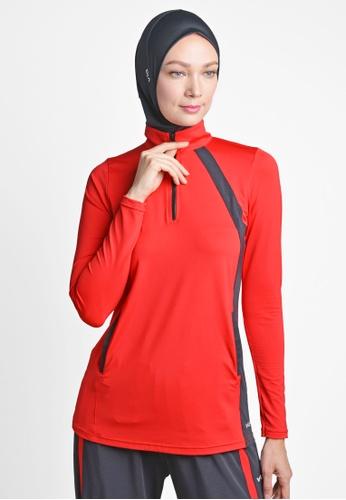 ViQ red ViQ Training Long Sleeve Top 6986CAA23F4399GS_1