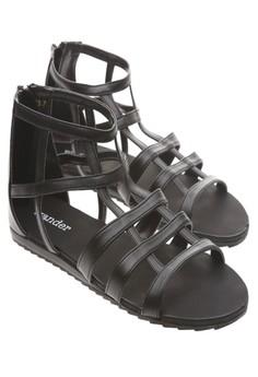 Wander Alexandria Sandals (Black)