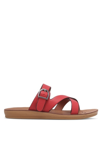 Noveni red Strappy Sandals NO978SH0RX30MY_1