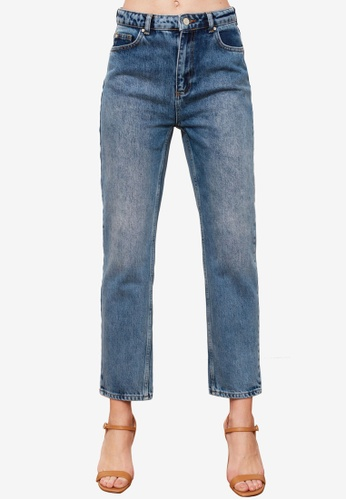Trendyol blue High Waist Slim Fit Jeans AB0C8AA5602C20GS_1