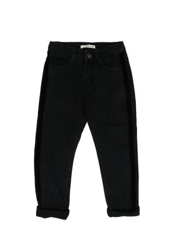 FOX Kids & Baby black Side Stripe Denim Jeans D2A47KA6A28448GS_1