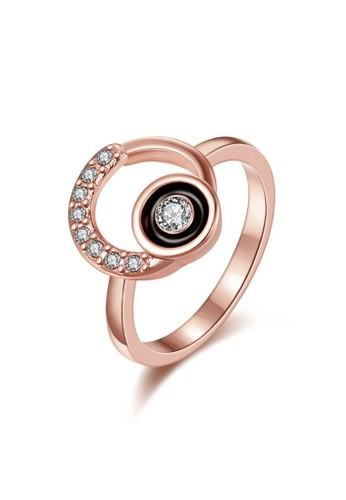 Tiaria pink Tiaria Gold Plated Ring Casual Fashion KRGPR717-B-7--K09 6AA88ACD04CFD4GS_1