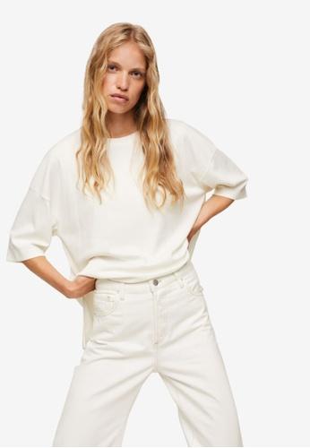 Mango white Oversize Cotton T-Shirt 54F0EAA48257BBGS_1