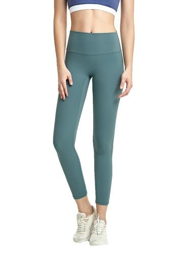 B-Code green ZWG7022Lady Quick Drying Running Fitness Yoga Sports Leggings -Green E9F72AAA12B5AFGS_1