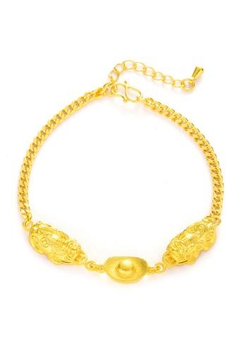 YOUNIQ gold YOUNIQ 24K Premium Gold Pixiu Women Slim Lucky Fortune Bracelet 55E77ACAD00E8AGS_1