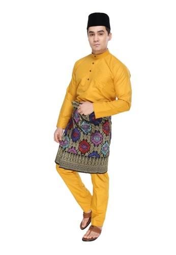 Amar Amran yellow and gold Baju Melayu Moden BFA07AA73F80D7GS_1