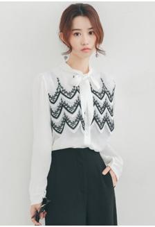 4c473f93264beb Lace Ruffles Shirt SH656AA93PGCSG 1