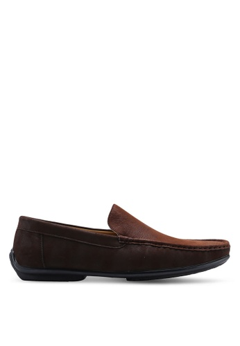 Louis Cuppers brown Faux Leather Loafers 2AFD7SHBCA1C21GS_1