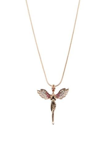 天使吊飾項esprit 童裝鍊, 韓系時尚, 梳妝